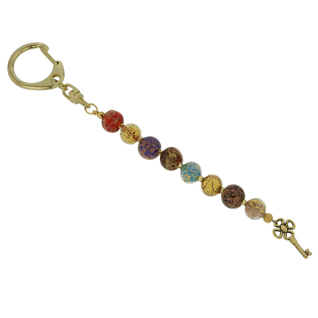 Feast of Colors Murano Keychain