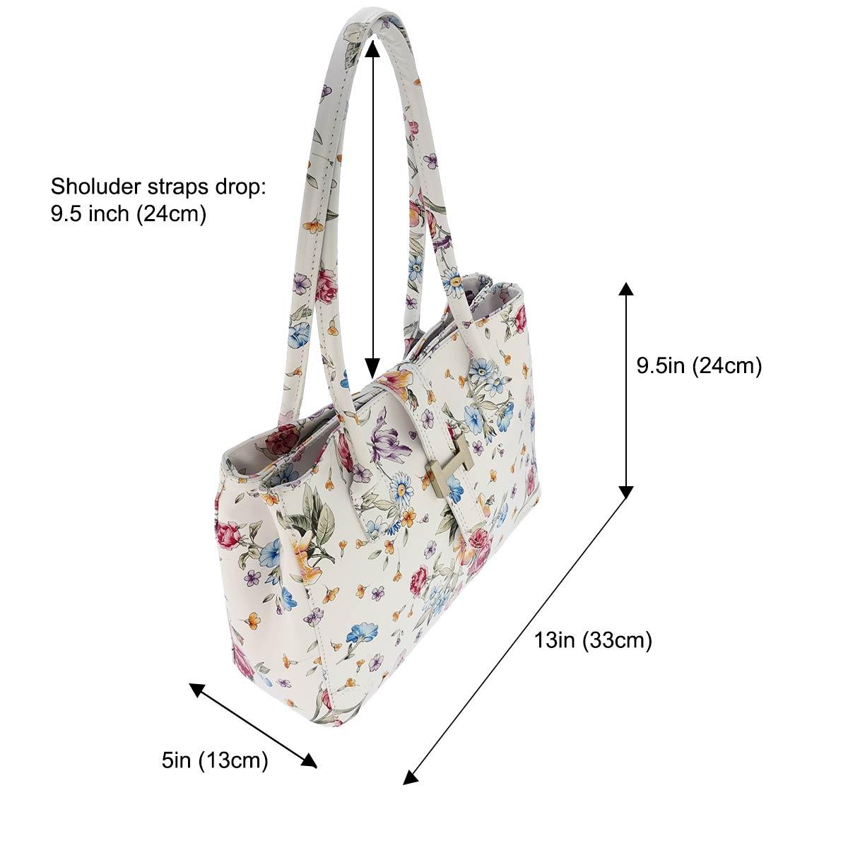 Fioretta Italian Genuine Leather Shoulder Bag Tote Handbag For Women