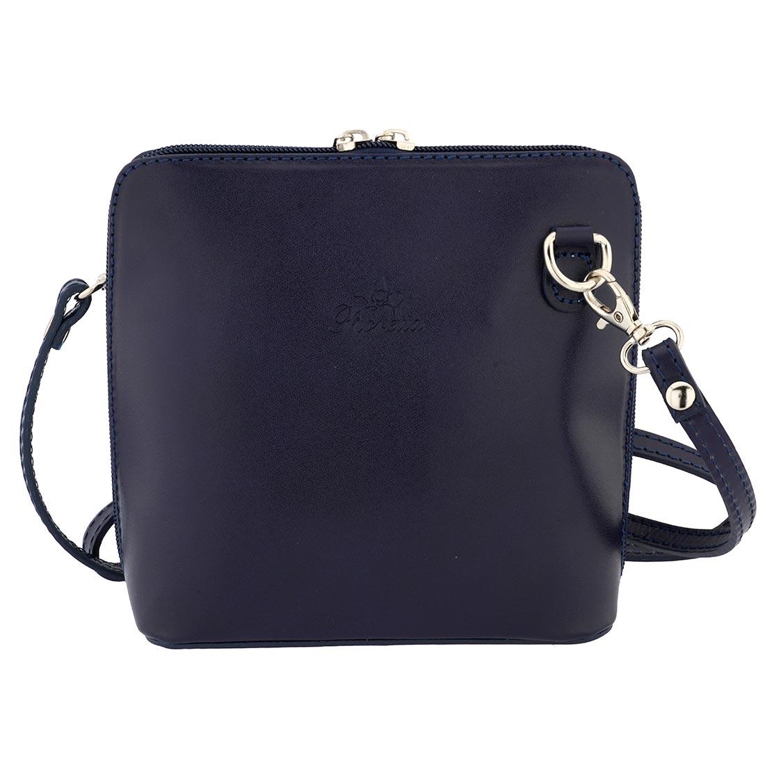 Fioretta Italian Genuine Leather Small Crossbody Bag Shoulder Bag Purse For Women - Blue