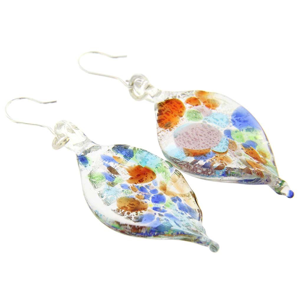 Kaleidoscope Leaf Earrings