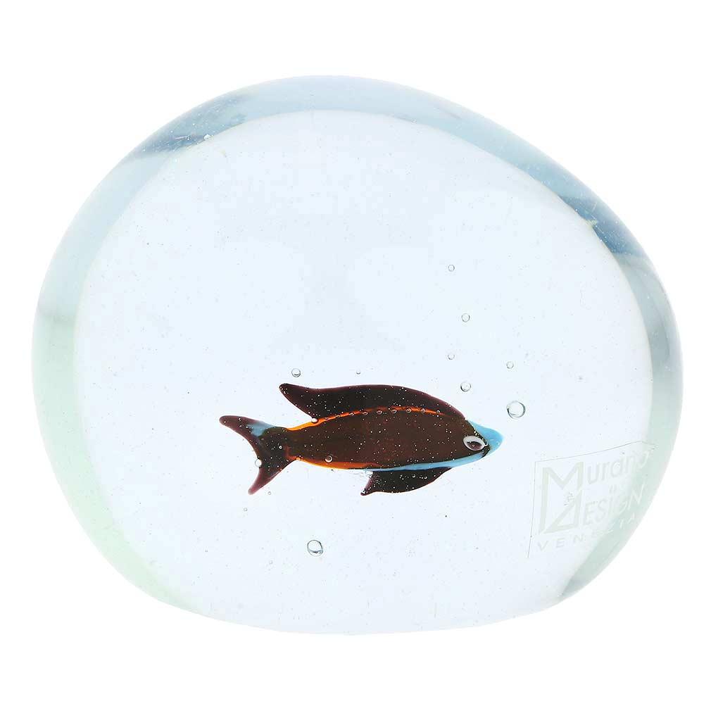 Murano Glass Aquarium with Fish