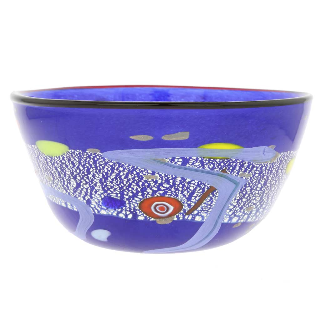 Modern Art Murano Glass Bowl - Blue