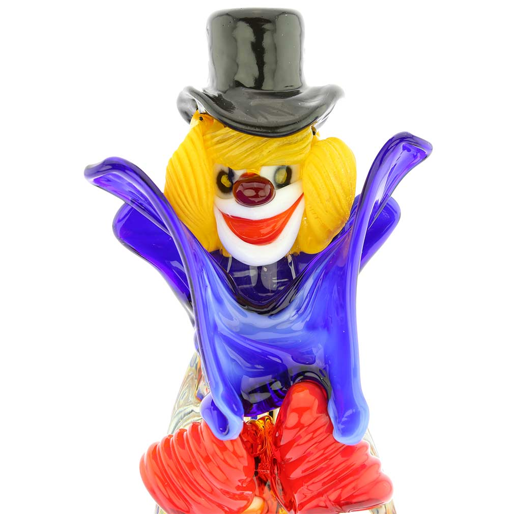 Murano Glass Clown With Accordion