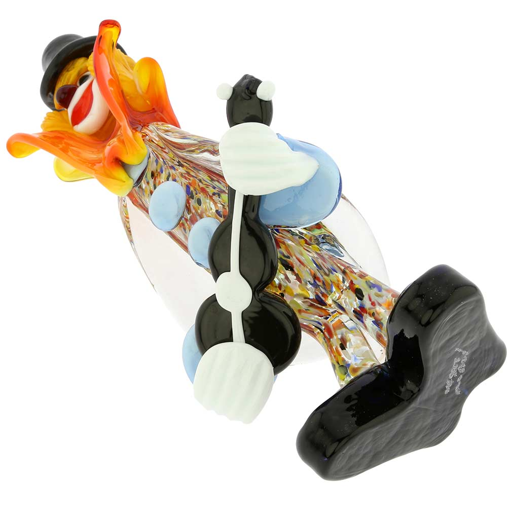 Murano Glass Clown With Guitar