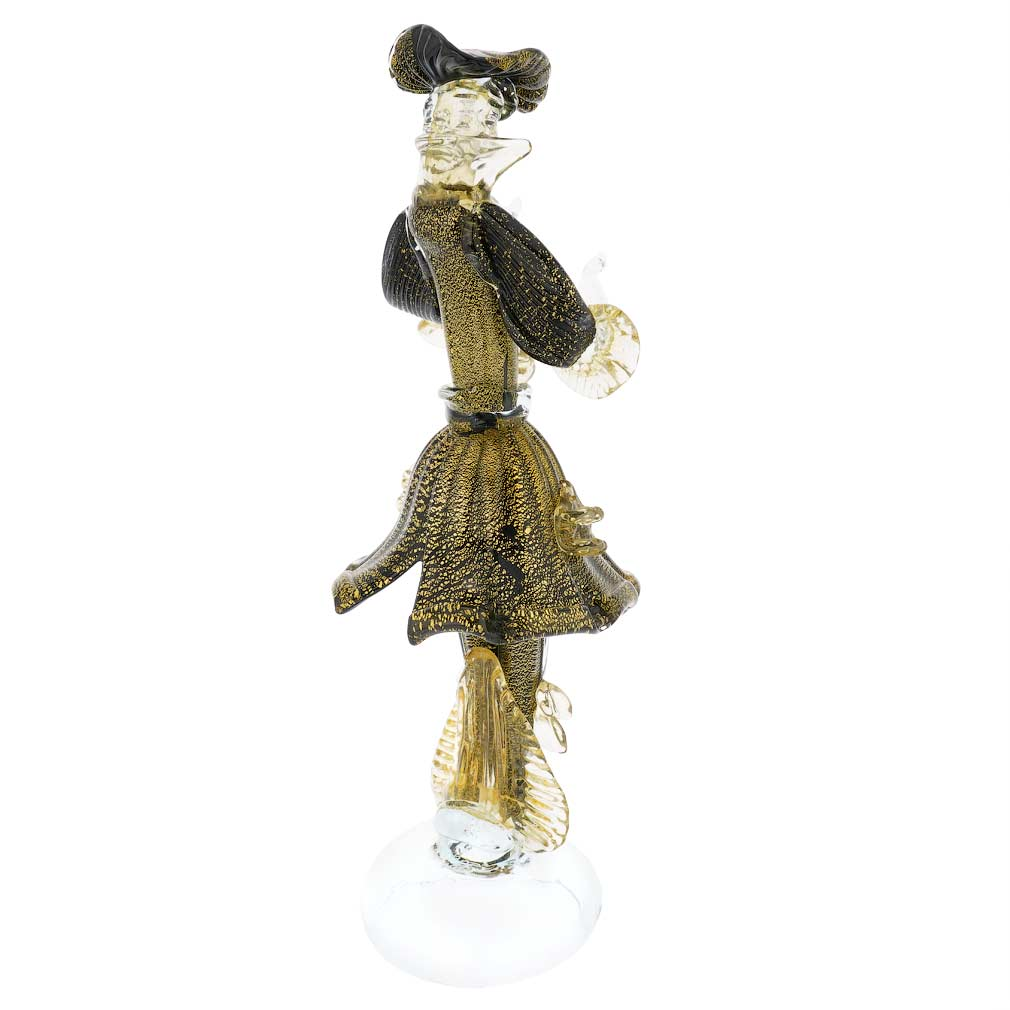 Venetian Goldonian Gentleman - Black and Gold