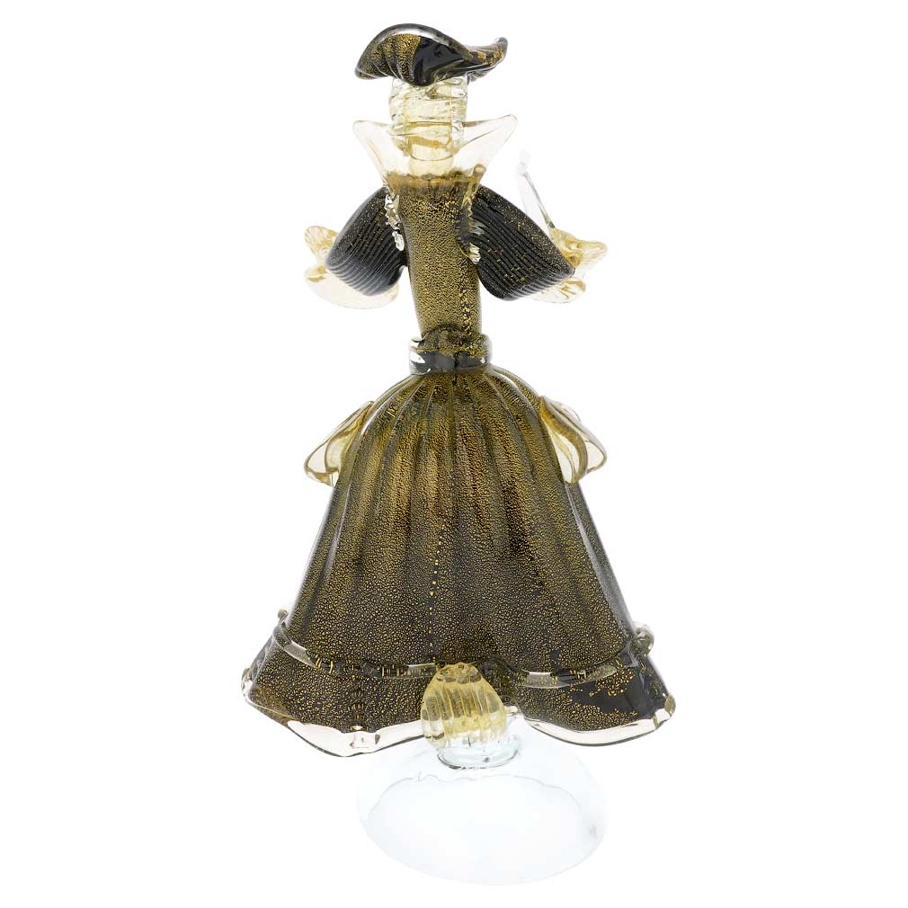Venetian Goldonian Lady - Black and Gold