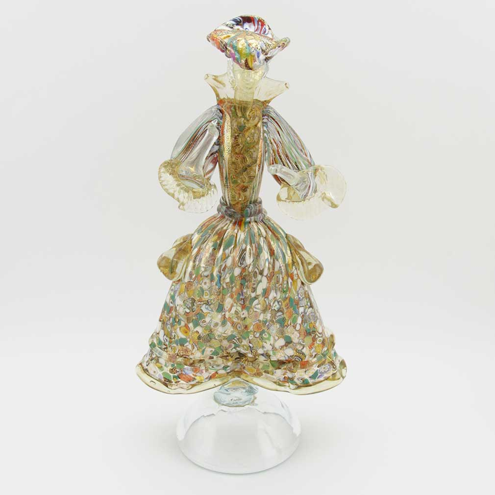 Venetian Goldonian Lady - Millefiori and Gold