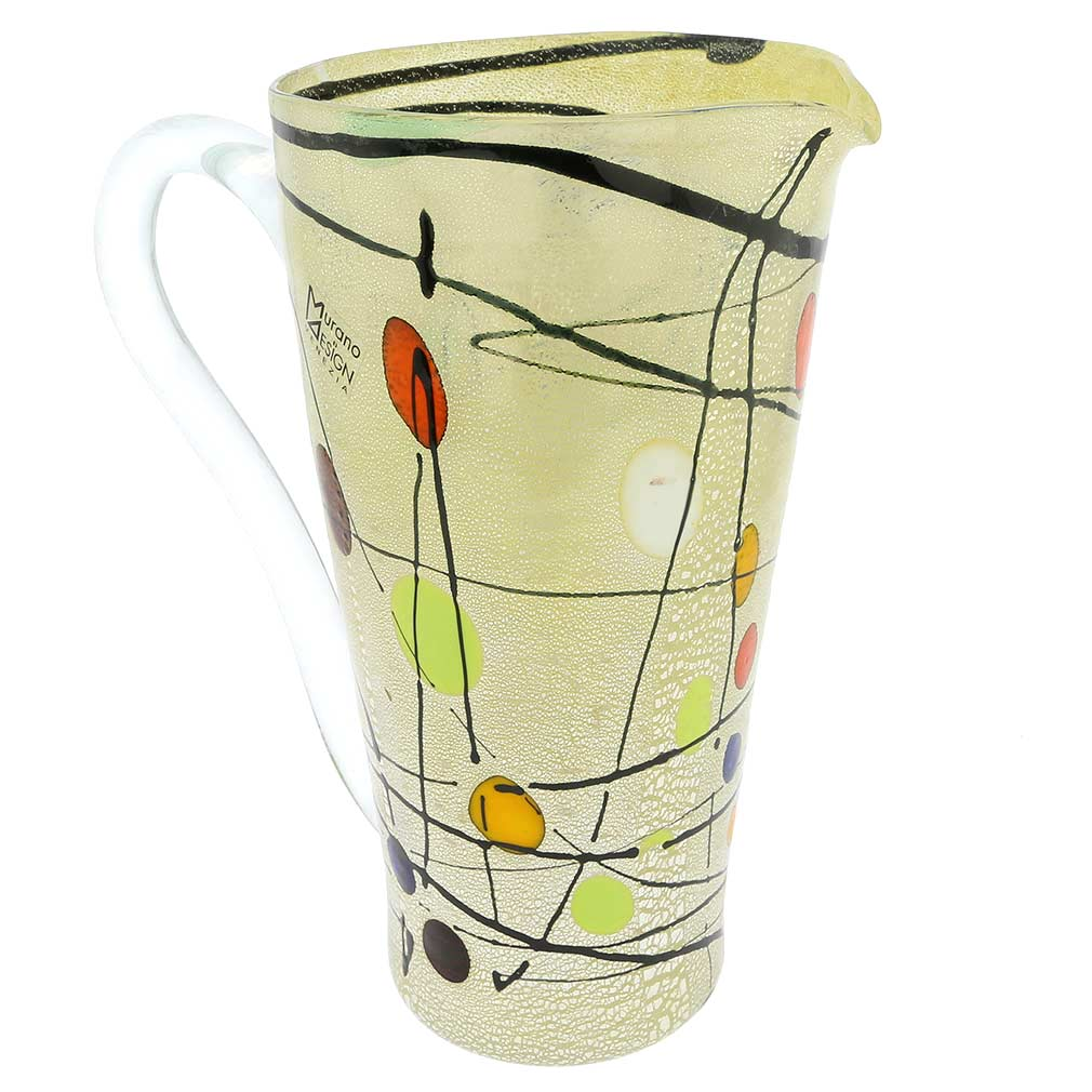 Murano Glass Picasso Drinking Set - Pitcher With Six Tumblers