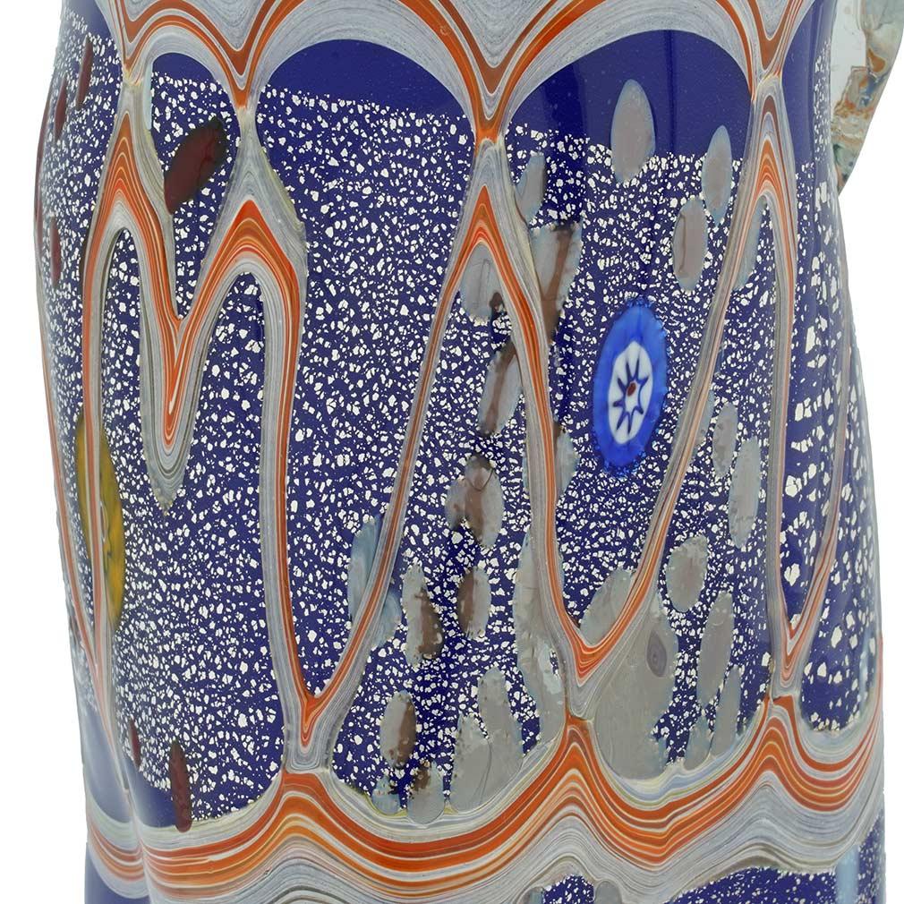 Modern Art Murano Glass Carafe - Blue