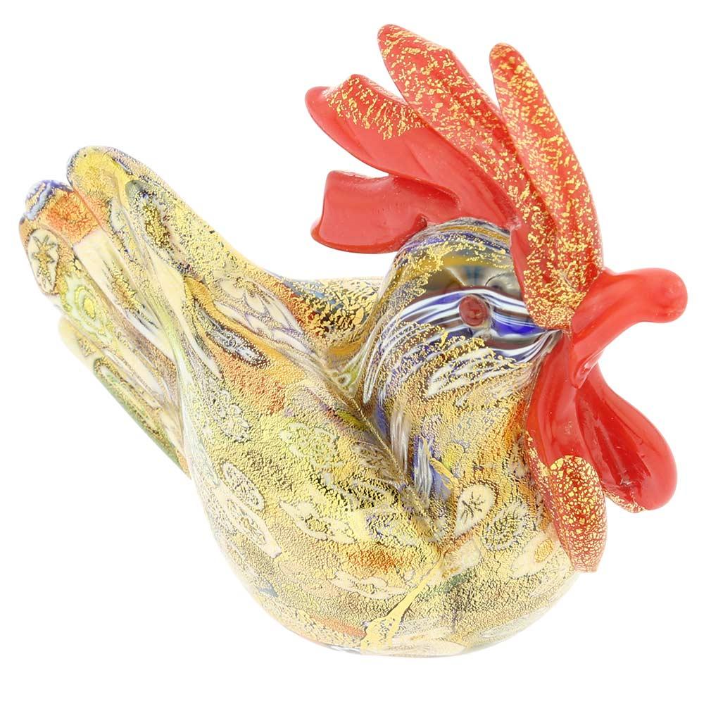 Golden Quilt Millefiori Rooster