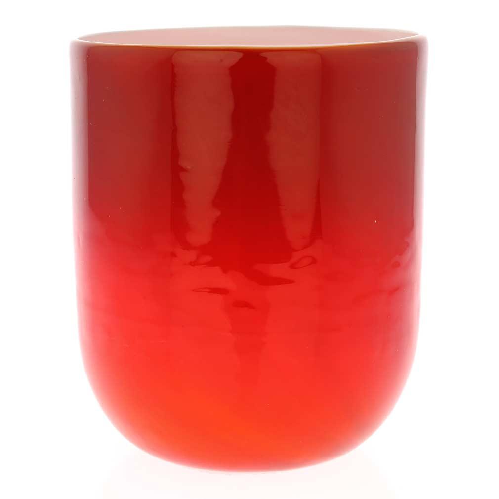 Murano Glass Luminoso Tumbler - Red