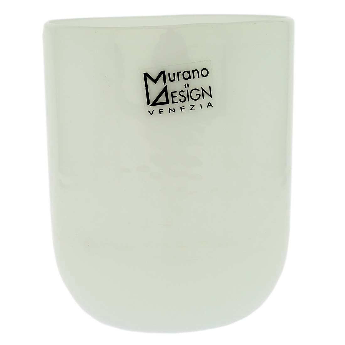 Murano Glass Luminoso Tumbler - White