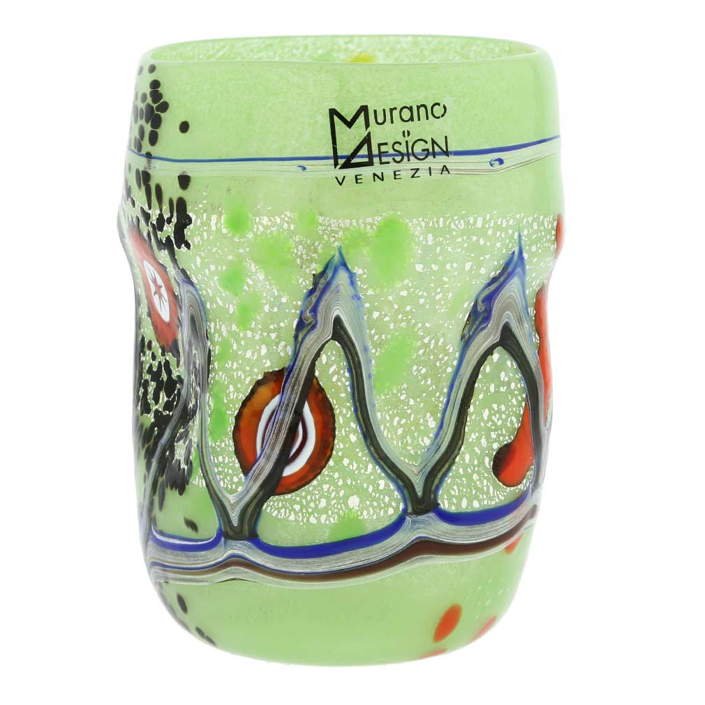 Modern Art Murano Glass Tumbler - Green