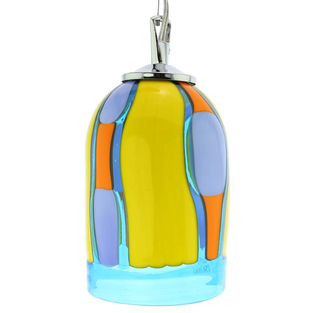 Murano Gl Pendant Light Blue Lagoon