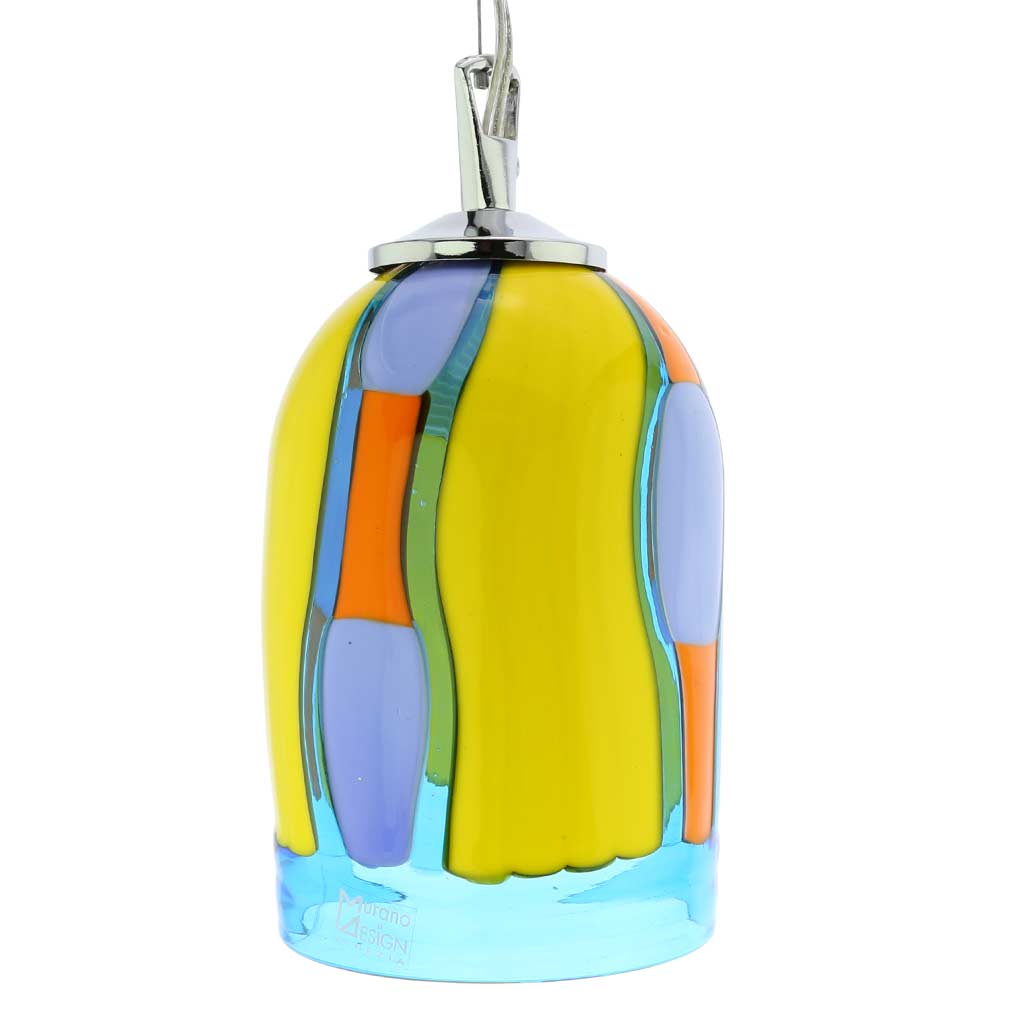 Murano Glass Pendant Light - Blue Lagoon