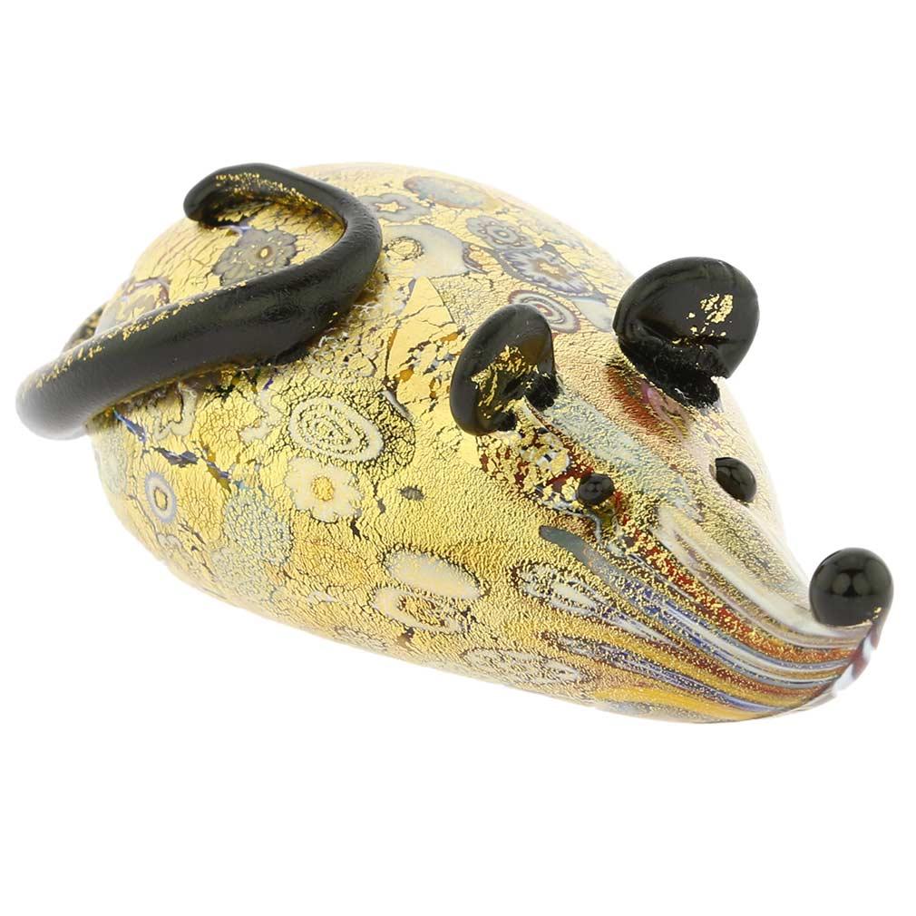Golden Quilt Millefiori Mouse