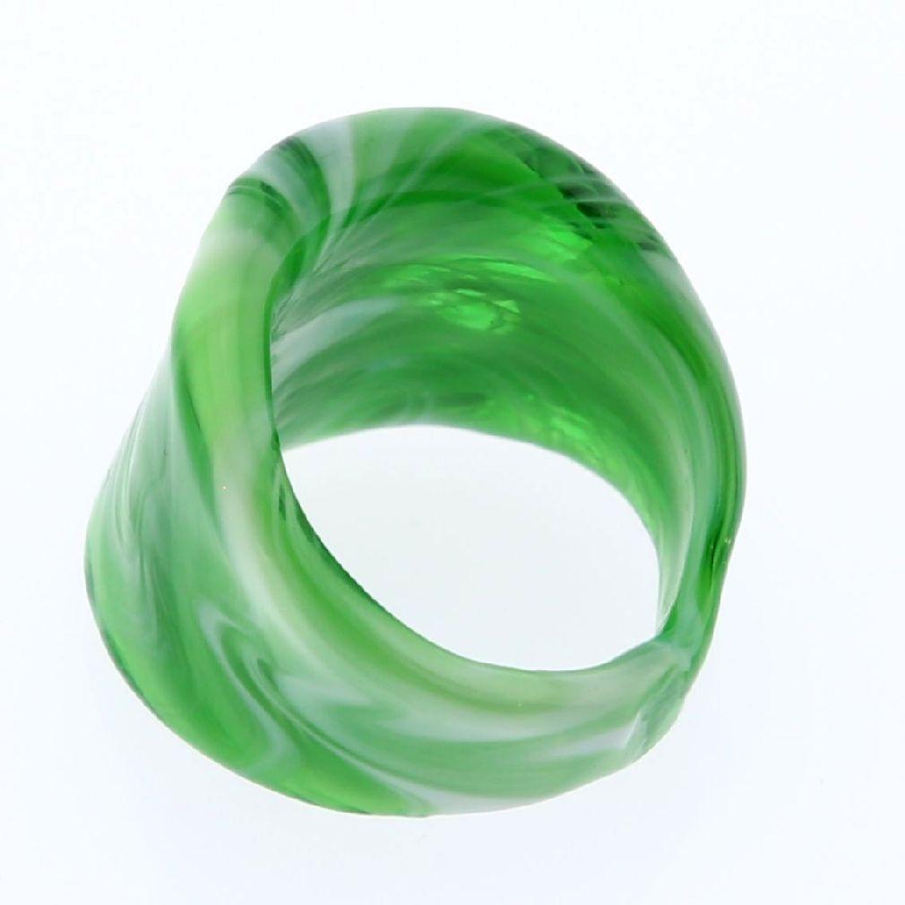 Venetian Marble Ring - Emerald