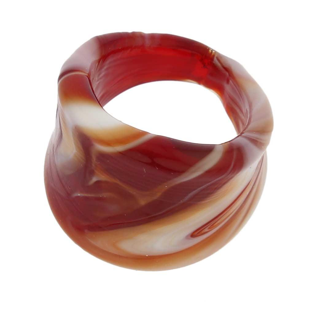 Venetian Marble Ring - Red