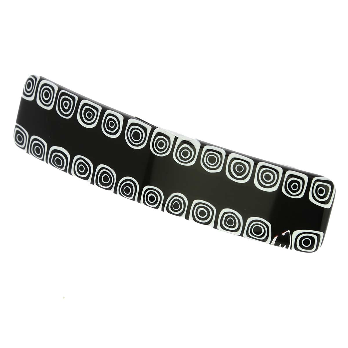 Murano Millefiori Hair Clip - Black and White Mosaic