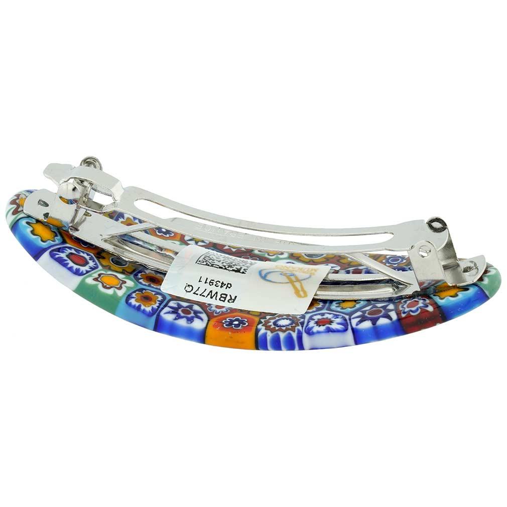 Murano Millefiori Oval Hair Clip - Multicolor