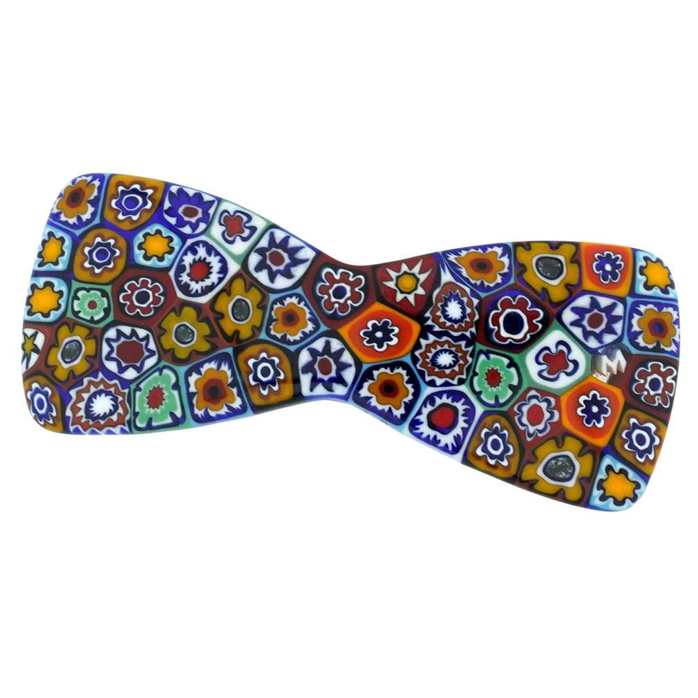 Murano Millefiori Bowtie Hair Clip - Multicolor