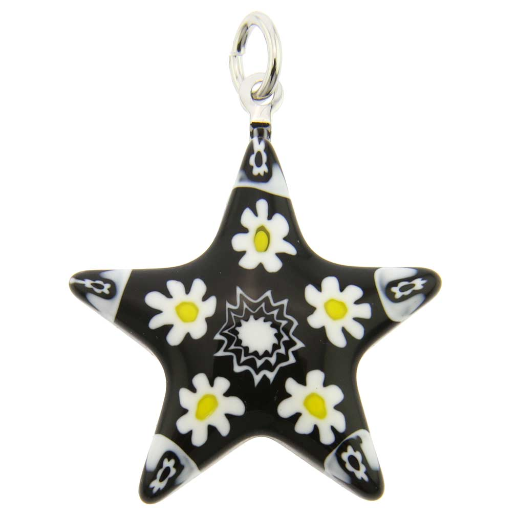 Millefiori Narrow Star Pendant