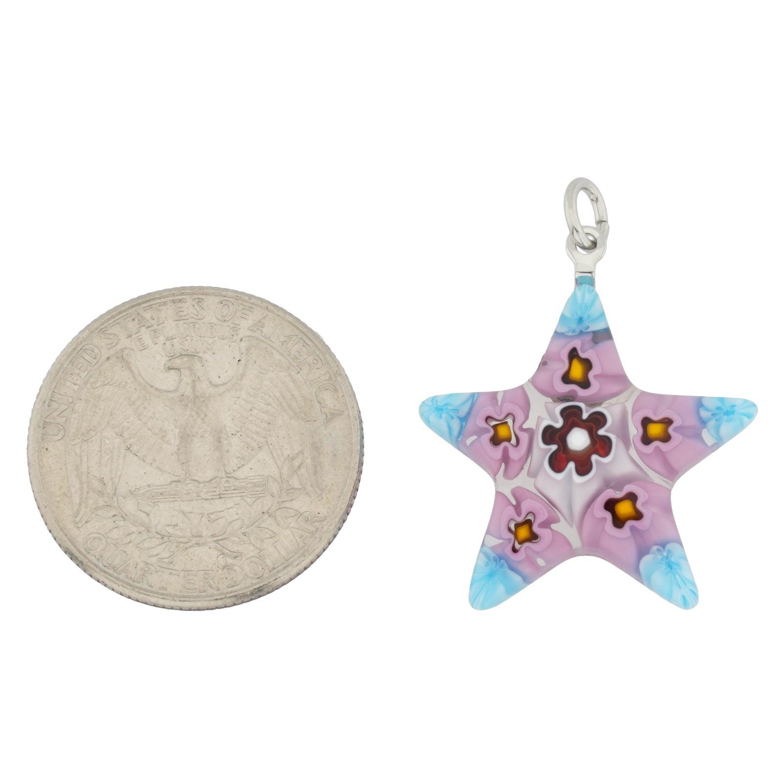 Millefiori Narrow Star Pendant