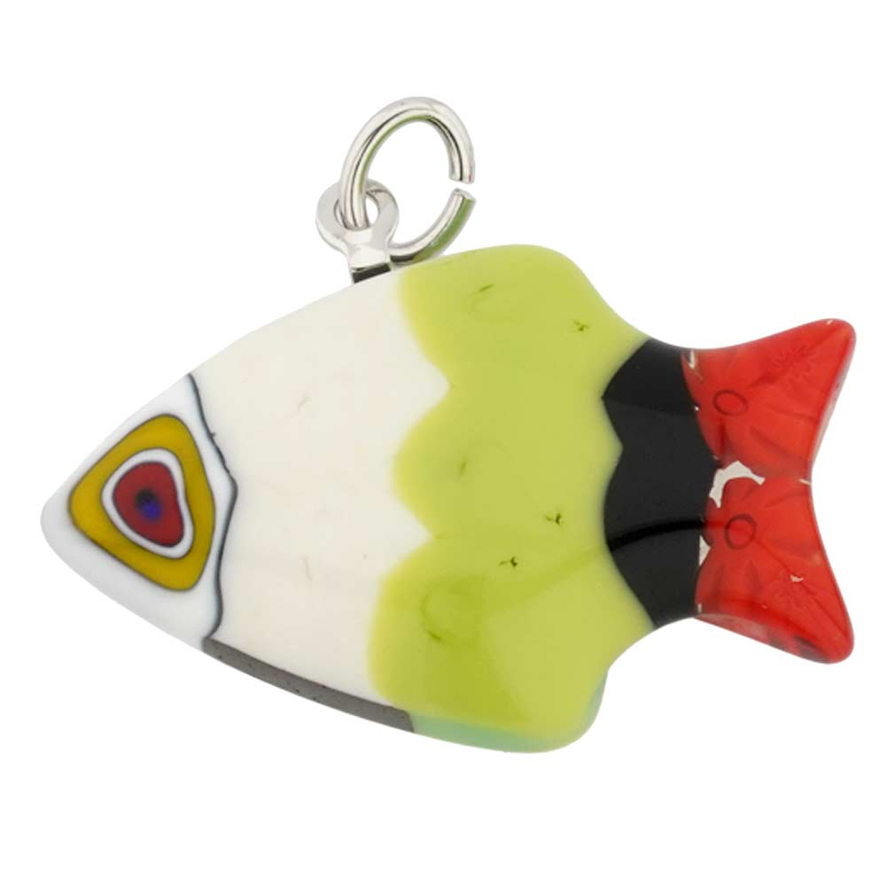 Millefiori Small Fish Pendant