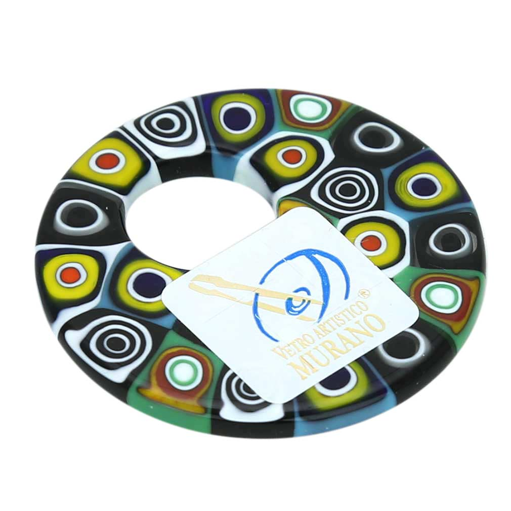 Millefiori Medium Round Pendant - Abstract Multicolor