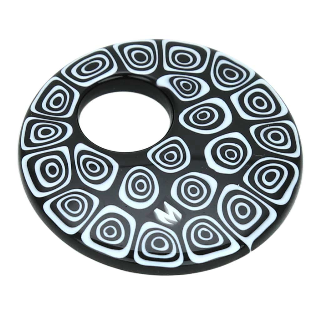 Millefiori Medium Round Pendant - Black and White