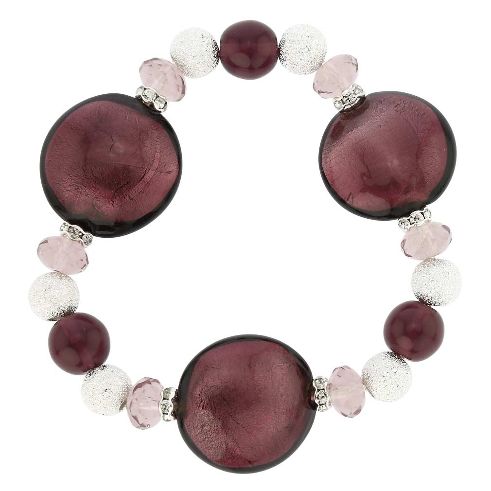 Murano Magic Bracelet - Plum