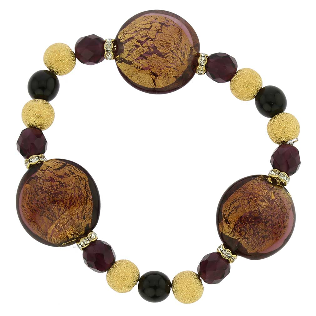 Murano Magic bracelet - amethyst gold