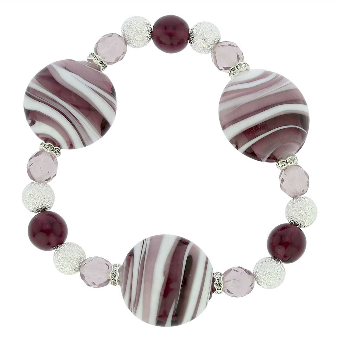 Murano Magic Bracelet - Marble Purple