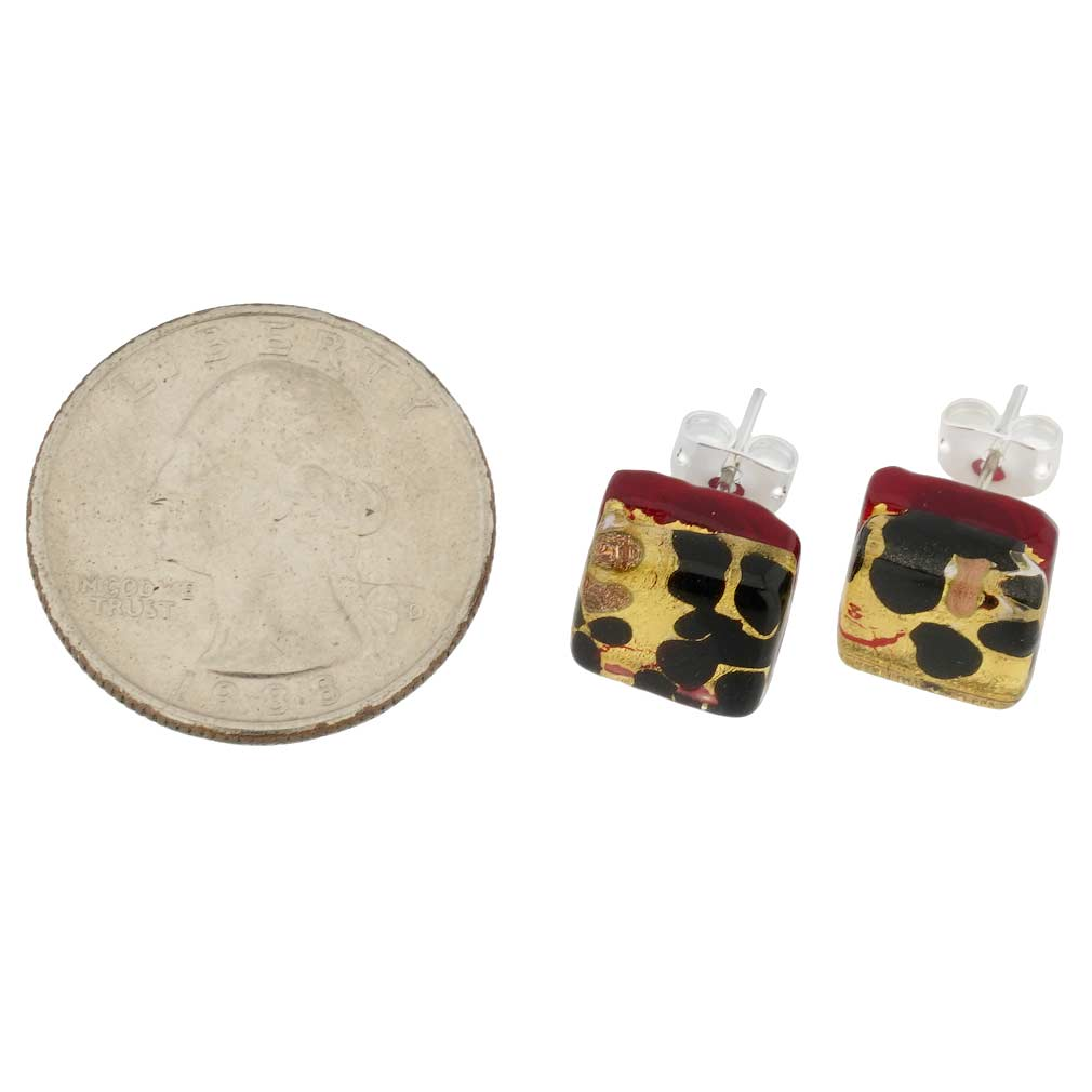 Venetian Reflections Square Stud Earrings #10