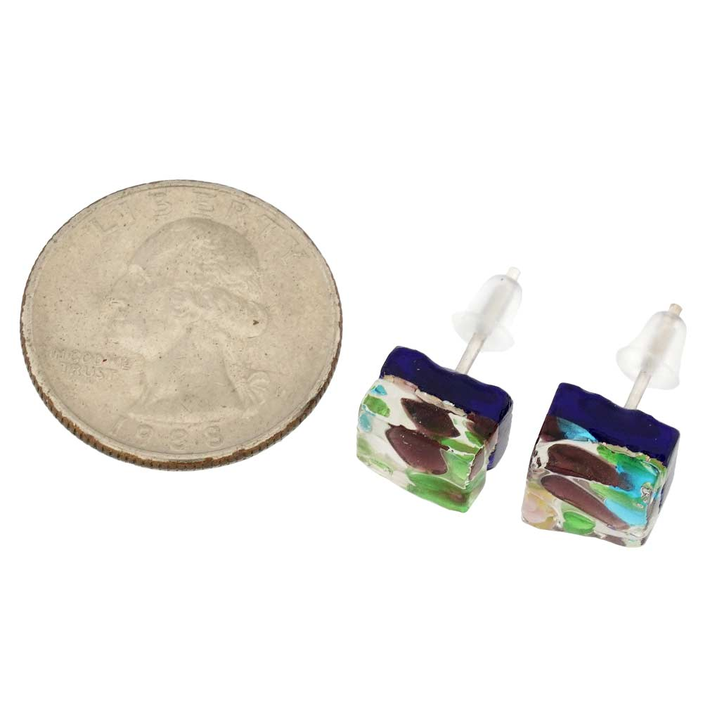 Venetian Reflections Square Stud Earrings #6