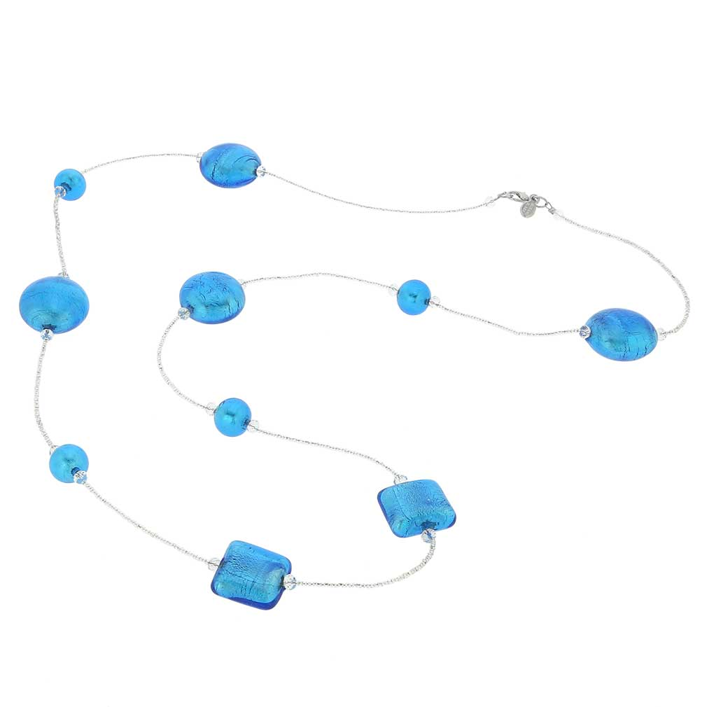 Lucia Murano Necklace - Silver Aqua