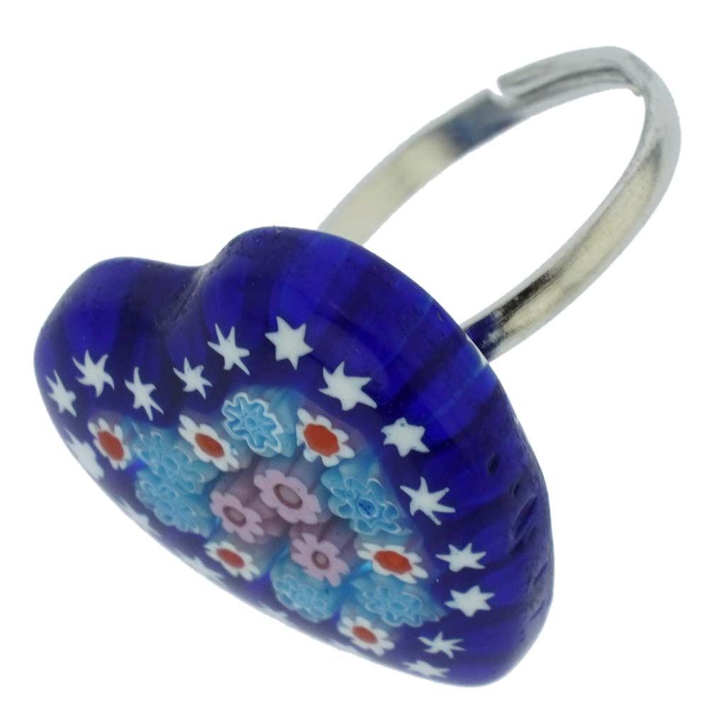 Venetian Reflections Ring - Rectangular With Adjustable Band #8