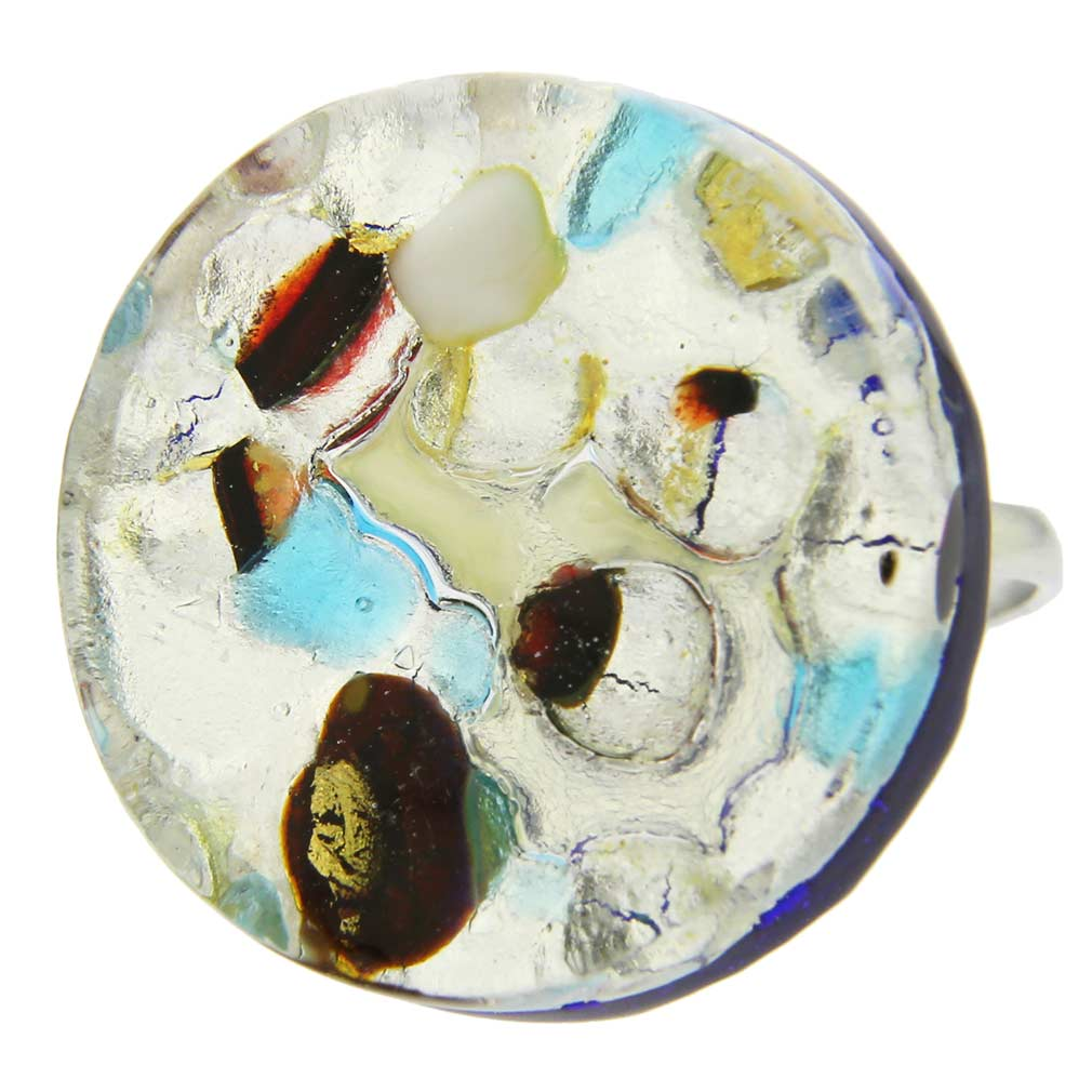 Venetian Reflections Ring - Round With Adjustable Band #10