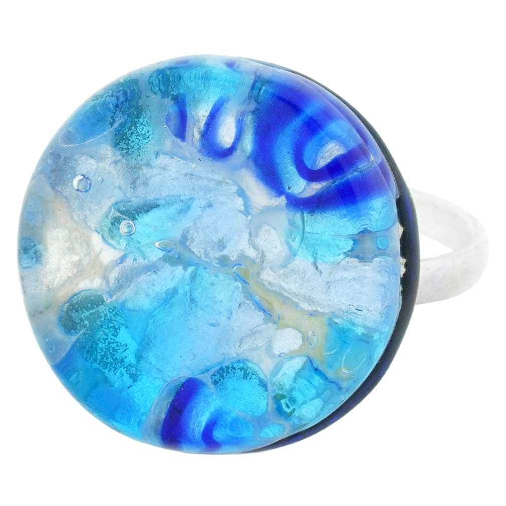 Venetian Reflections Ring - Round with adjustable band #3