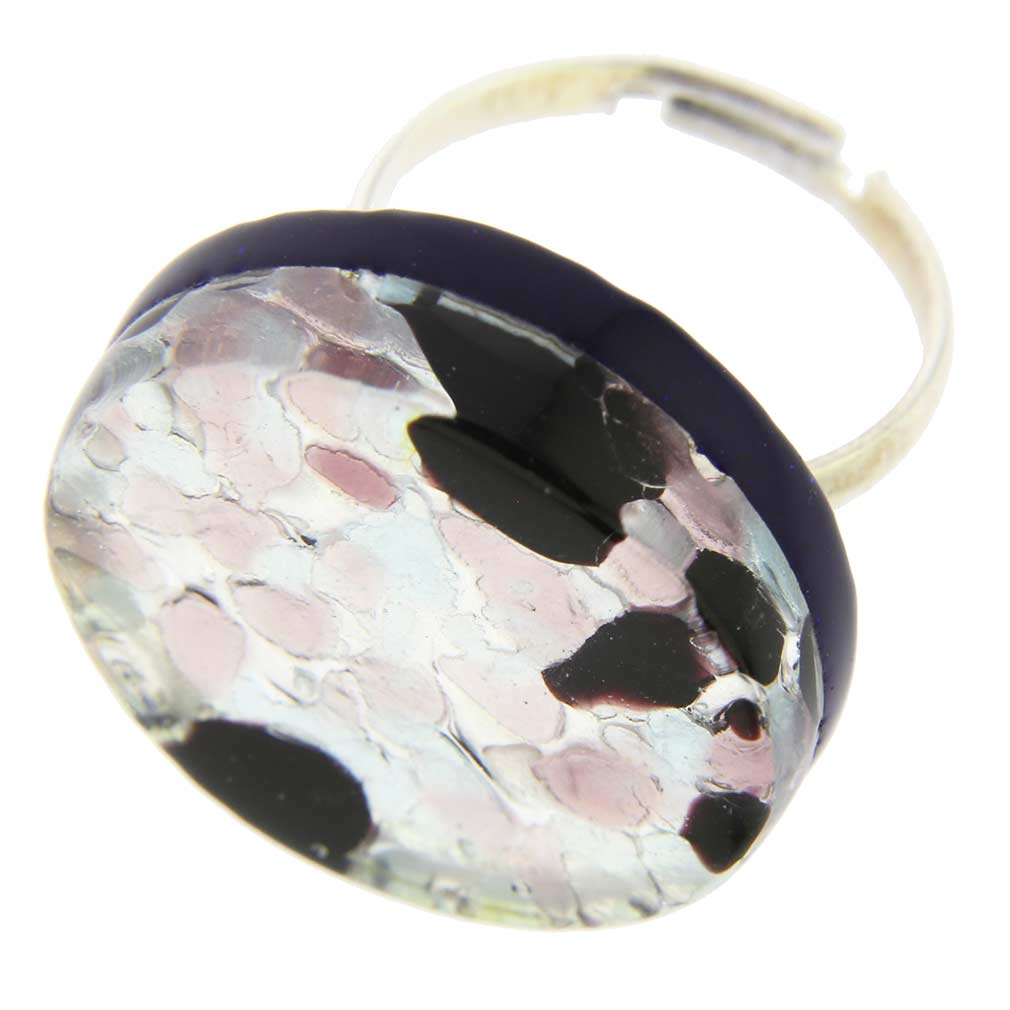 Venetian Reflections Ring - Round With Adjustable Band #4