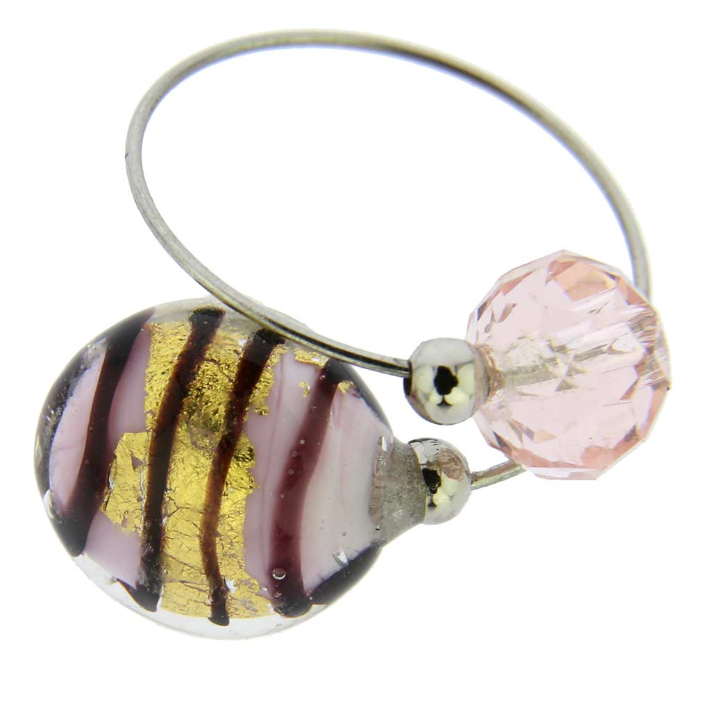 Lagoon Reflections Ring - Purple Stripes