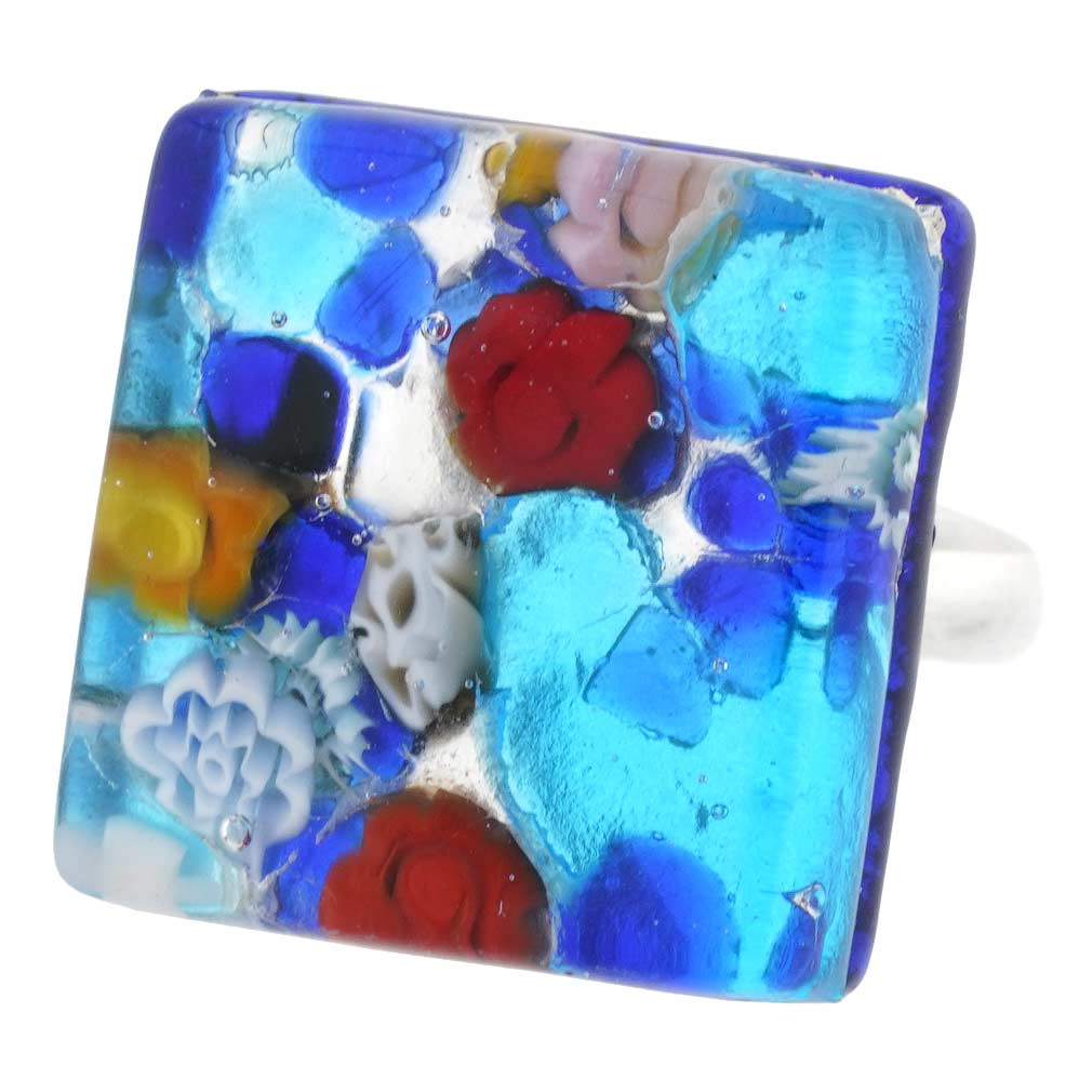 Venetian Reflections Ring - Square With Adjustable Band #1