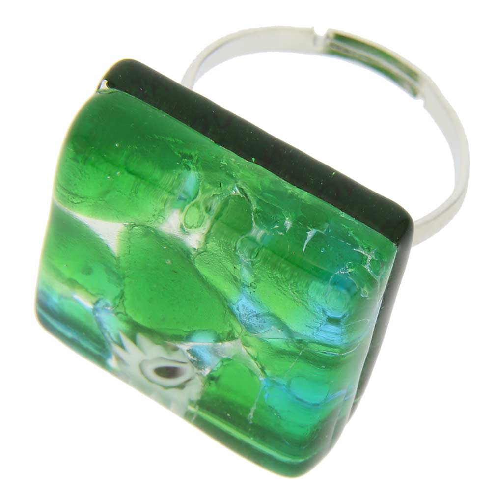 Venetian Reflections Ring - Square with adjustable band #5