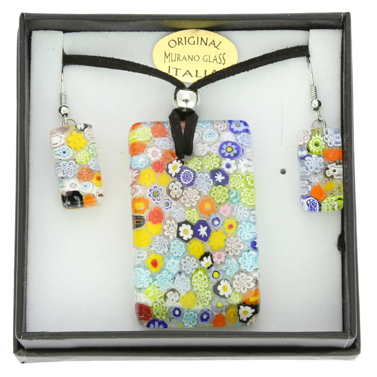 Murano Glass Millefiori Jewelry Set