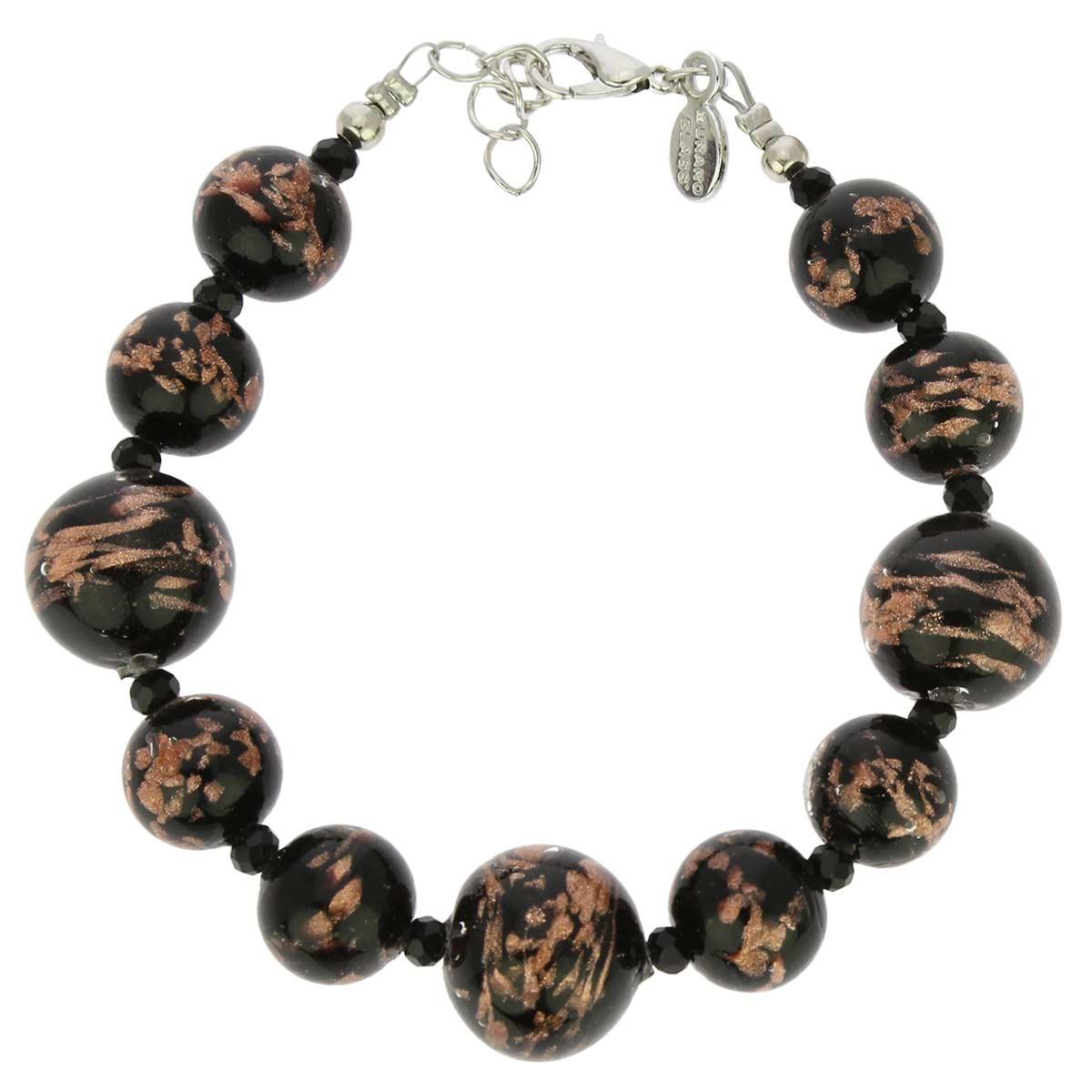 Starlight Balls Murano Bracelet - Black