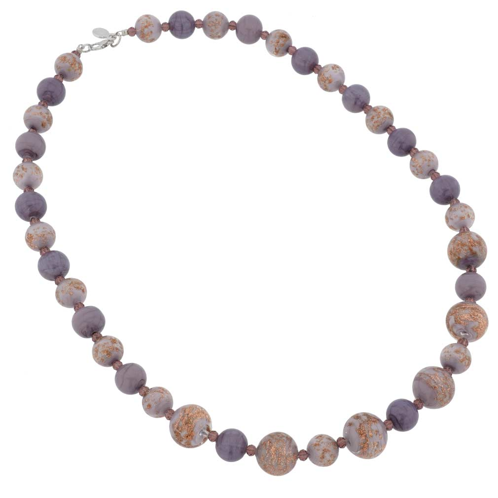 Starlight Murano Necklace - Purple