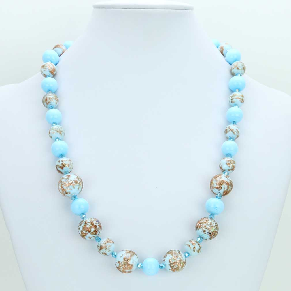 Starlight Murano Necklace - Aqua