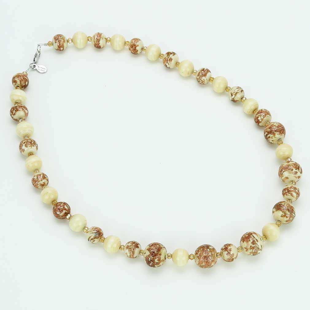 Starlight Murano Necklace - Milky White
