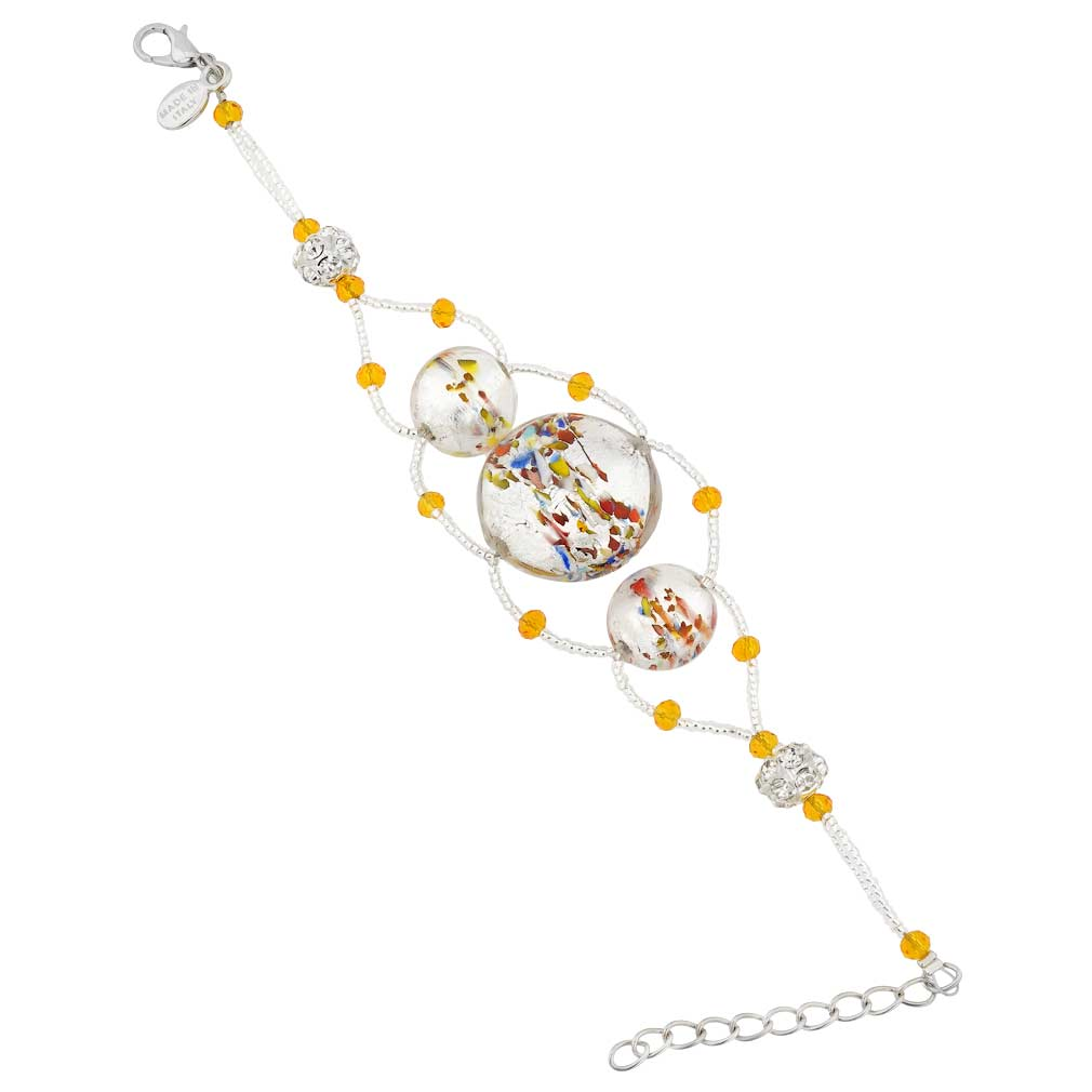 Venetian Dream Bracelet - Gold and Red