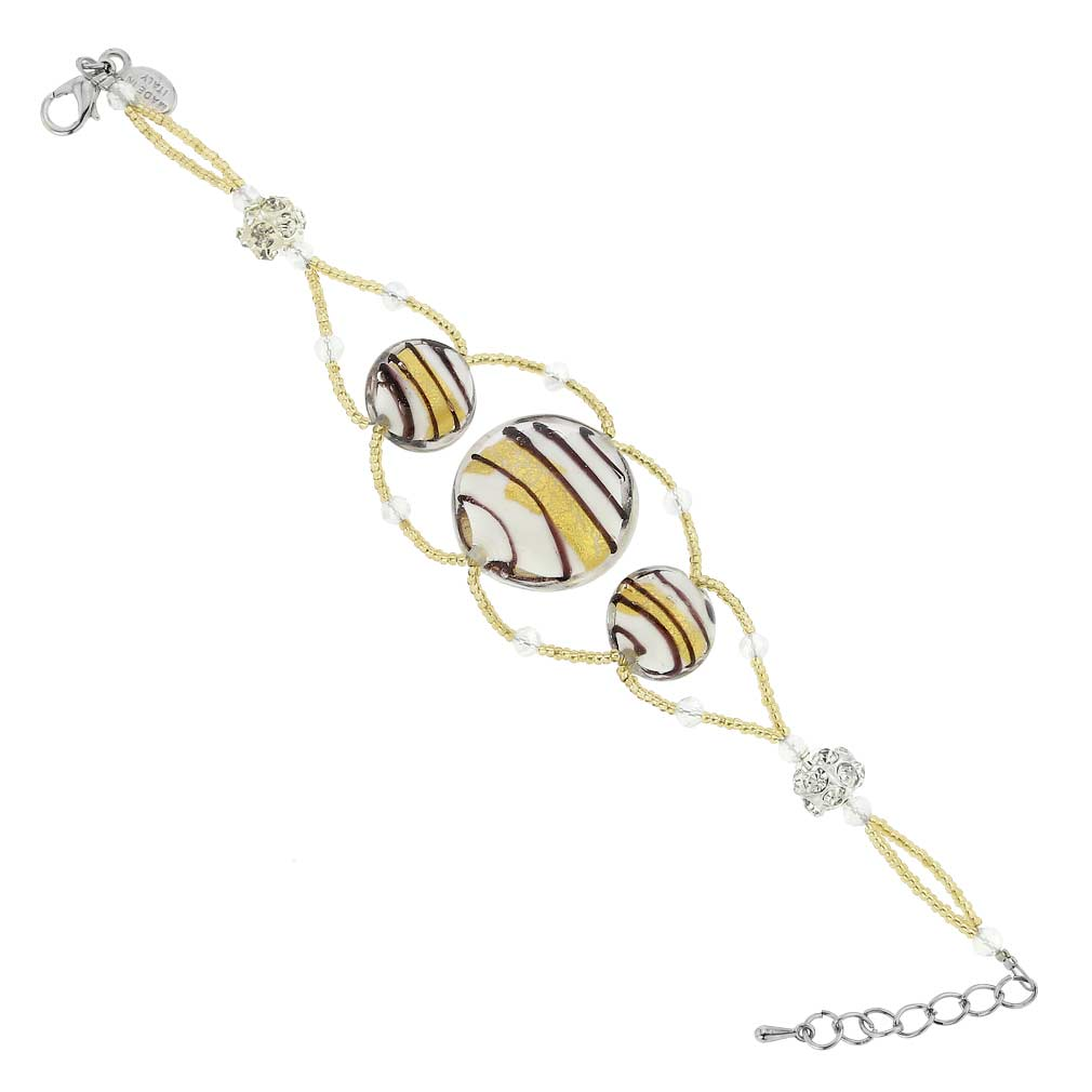 Venetian Dream Bracelet - White and Gold